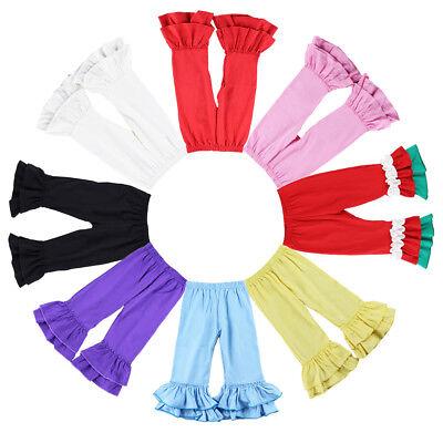 Little Girls Ruffle Soft Cotton Flare Pants Kids Icing Ruffled Leggings Trousers](Girls Ruffle Leggings)