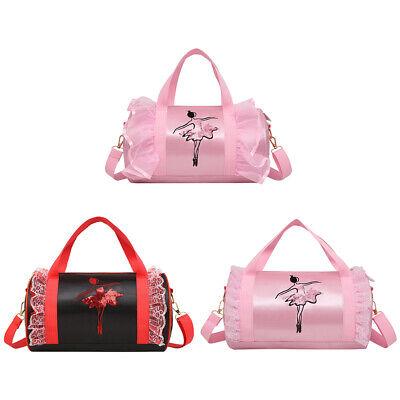 Girls Ballet Bag Dance Duffle Bag Ballerina Shoulder Bag Carry Holdall Backpack Ballerina Duffle Bag