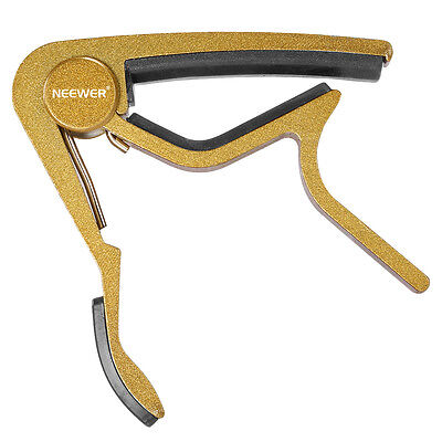Neewer Golden Zinc Alloy Single-handed Quick Change 6-string  Guitar Capo