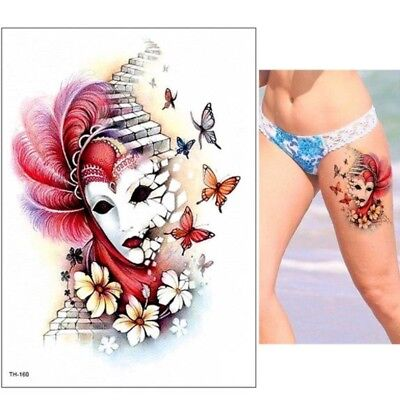 aske Schmetterling Design Klebetattoo Körperkunt (Maske Tattoos)