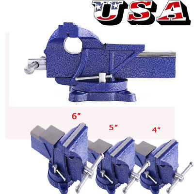 New 456 Vise Work Table Bench Clamp Swivel Rotated Vice Repair Tool Us