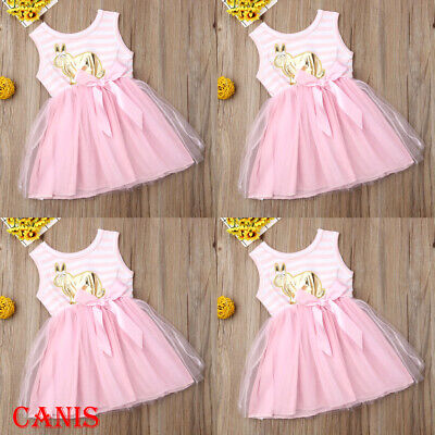 Holiday Dresses For Kids (Toddler Infant Girls Dresses Summer Kids Sleeveless Striped Casual Holiday)