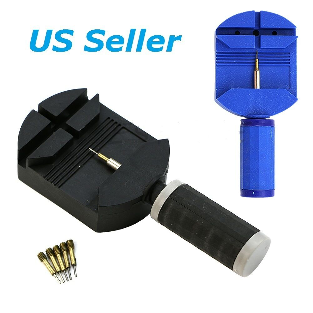 Wrist Bracelet Watch Band Link Slit Strap Remover Adjuster & 5 Pins Repair Tools Jewelry & Watches