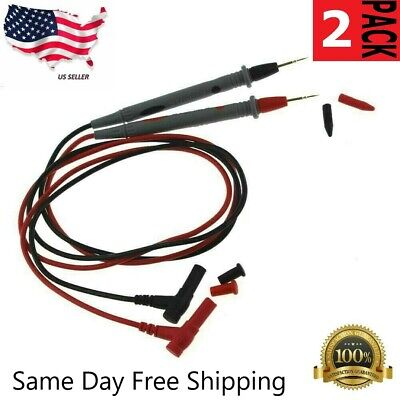 2 Pack Multimeter Voltmeter Cable Thin Needle Tester Unique Probe Test Lead Cord