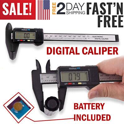 Lcd Digital Vernier Caliper Electronic Gauge Ruler Caliber Micrometer 150mm6 In