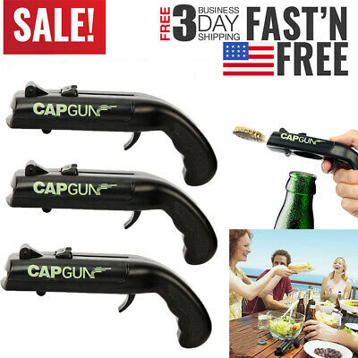 3 Pack  Creative Useful Beer Bottle Opener Launcher Fun Gift Firing Cap Gun