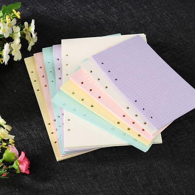 40 Sheets A5/A6 Filler Papers Loose-leaf Notebook 6 Holes Office School Supplies