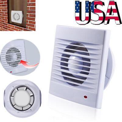 "4"" 6"" Home Bathroom Extractor Exhaust Wall Mount Fan Garage Air Vent Ventilation"
