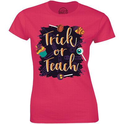 Halloween Teacher Gift Ideas (Trick Or Teach Cute Teachers Funny Halloween Party Gift Tee Idea Women's)