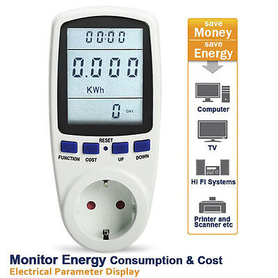 Plug Energy Meter Watt Volt Voltage Consumption Usage Monitor Electric Analyzer