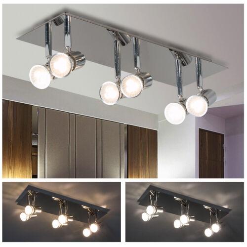 5W LED Track Lighting Rail Spotlight 6 Heads Adjustable Floo
