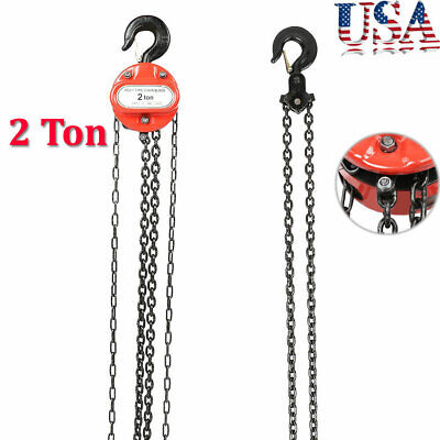 2 Ton Chain Puller Block Fall Chain Lift Hoist Hand Tool Chain With Hook