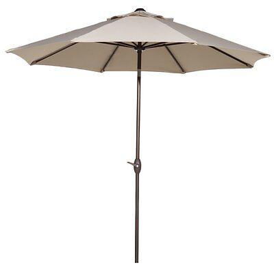 Outdoor 9 Feet Umbrella Patio Market Table Umbrella with Push Button Tilt &Crank