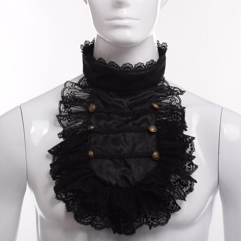 Steampunk Lace Necklace Ruffle Collar Retro Victorian Men
