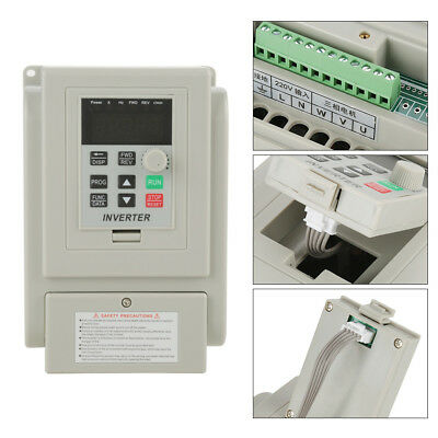 2hp 1.5kw Single Phase To 3three Phase Output Frequency Converter Vfd Vsd 220v