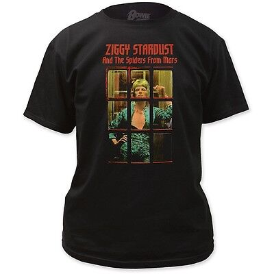 David Bowie Ziggy Stardust & The Spiders From Mars Album Phonebooth T-Shirt Top Bowie Ziggy Phone Booth T-shirt