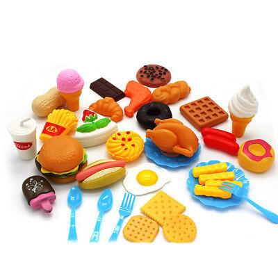 34Obst Gemüse Lebensmittel Sets Schneiden Zubehör Kaufladen Spielküche Spielzeug ()