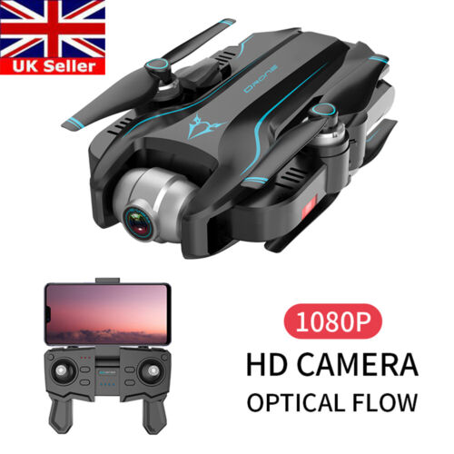 S20 Drone x pro 2.4G WIFI FPV 1080P Camera Dual FPV Foldable RC Quadcopter UK