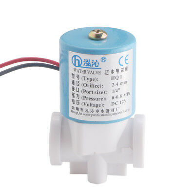 Dc12v G 14 Electric Solenoid Valve Nc Feed For Ro Water Air Quick Connector