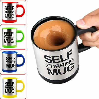 Plain Coffee Mugs (Automatic Plain Mixing Mug Stainless Steel Coffee Self Stirring Office Lazy)