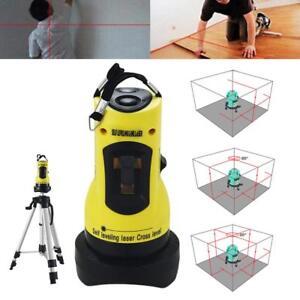 360° Degree Rotary Laser Level Self-Levelling Cross Line Measuring UK SELLER