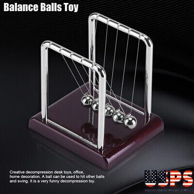 Newtons  Ball Physics Science Pendulum Kids Deskoffice Decor Toy