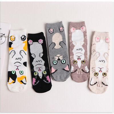 Cute Cartoon Cat Kitten Middle Tube Sock Animal Soft Cotton Comfortable Socks - Cute Easy Cartoons