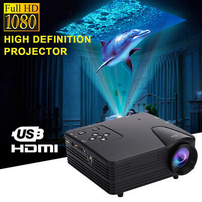 D575 4K 3D 1080P HD Projector 1080P Portable Home Theater HDMI/USB/AV/VGA/SD/TV