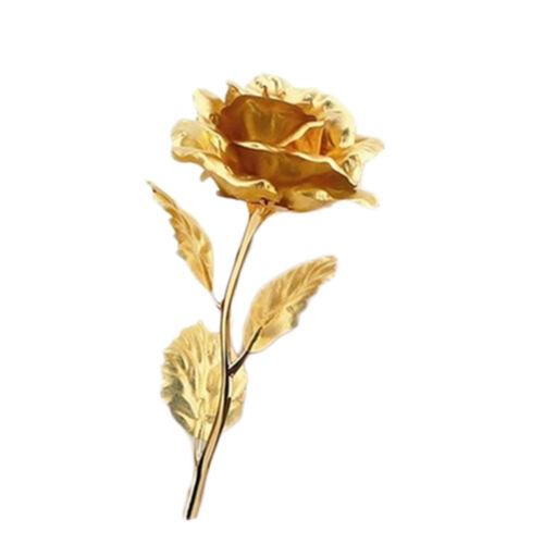 1 X Pc Golden Rose Flower Or 5 Pcs