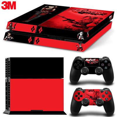 PS4 Playstation 4 Console Skin Decal Sticker Harley Quinn Custom Design Set