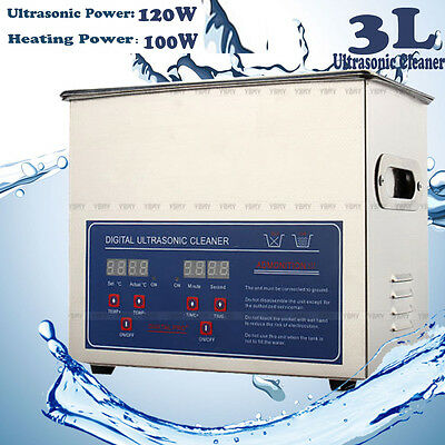 Stainless Steel 3l Liter Industry Heated Ultrasonic Cleaner Heater Wtimer Us