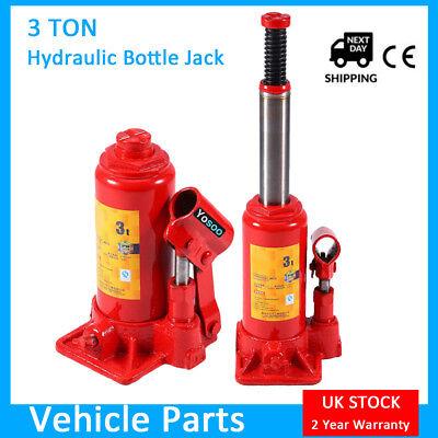 Heavy Duty 3 Ton Hydraulic Bottle Jack Lifting Ram Car Van Boat Truck Caravan