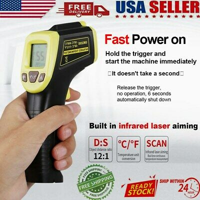 Digital Thermometer Infrared Temperature Gun Non-contact Ir Laser Point Us Hot