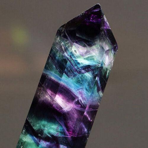 Natural Hexagonal Crystal Quartz Healing Fluorite Wand