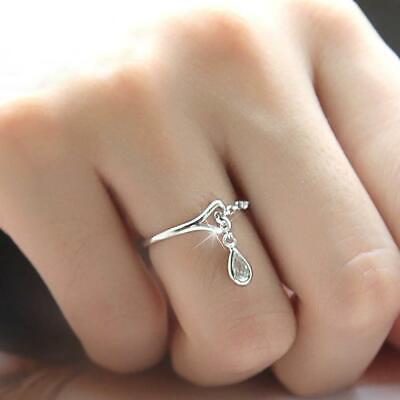 New Austrian Crystal Heart Ring Popular Austrian Crystal Heart Ring