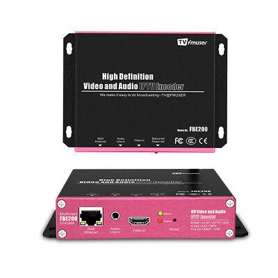 FMUSER H.264 /H.265 IPTV encoder HD IPTV Streaming Encoder Support M3U8 HLS