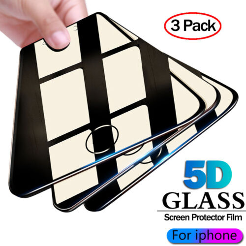 For iPhone XS Max XR Full Glass 5D Curved Tempered Glass Screen Protector Films Cell Phone Accessories