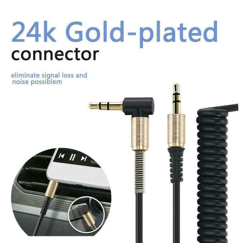 как выглядит Aux Cable from Plug to Plug Angled Car Audio Headphone Jack U9T8 фото