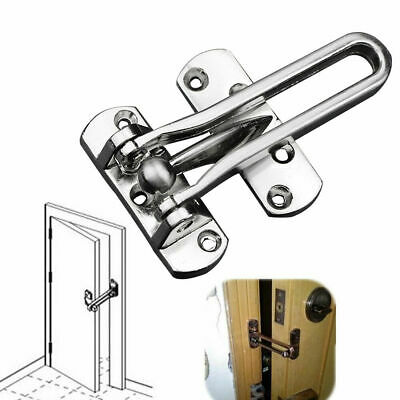 Home Hotel Door Stainless Steel Lock Security Guard Buckle Clasp Padlock Latch