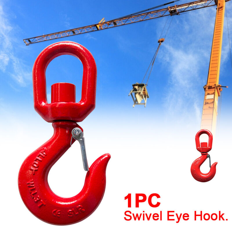 1 Ton Quick Release Drop Forged Accessories Shackle Alloy Steel Swivel Eye Hook