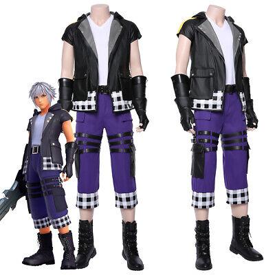 Kingdom Hearts III 3 Riku Cosplay Costume Jacket Pants Uniform Suit Full Outfit - Kingdom Hearts Outfits