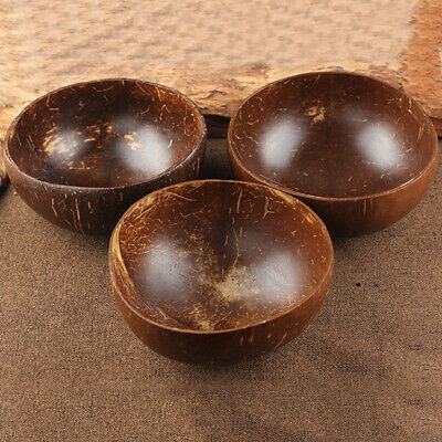 Coconut Shell Bowl Spoon Craft Salad Noodle Rice Food Container Decoration Bowls