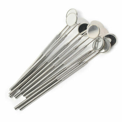 10pcs Stainless Steel Dental Pick Inspection Mirrors Dental Instruments Tool