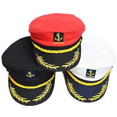 Fashion Sailor Ship Boat Captain Hat Navy Marins Admiral Adjustable Cap Hat US - Captains Hats