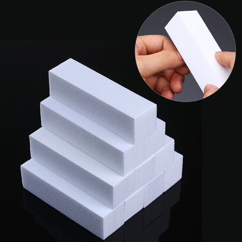 10Pcs White Nail Art Buffers Grinding Polish Blocking File Manicure Tools Kits