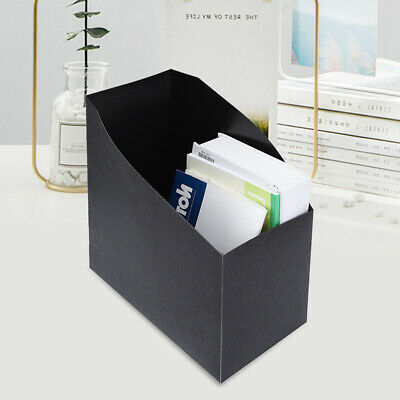 Office Decor Book Desk Organizer File Document Holder Paper Data Storage Box ()