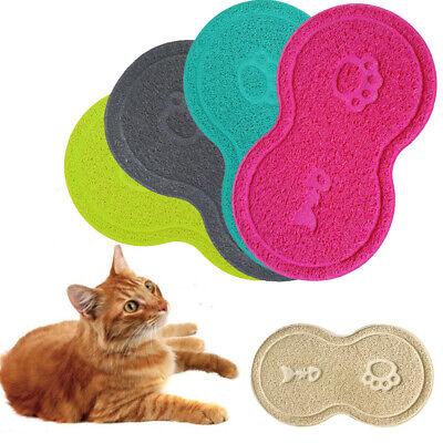 Pet Litter Mat Cat Food Water Sand Dirt Catcher Trapper Dish Bowl Placemat (Water Trapper Mat)