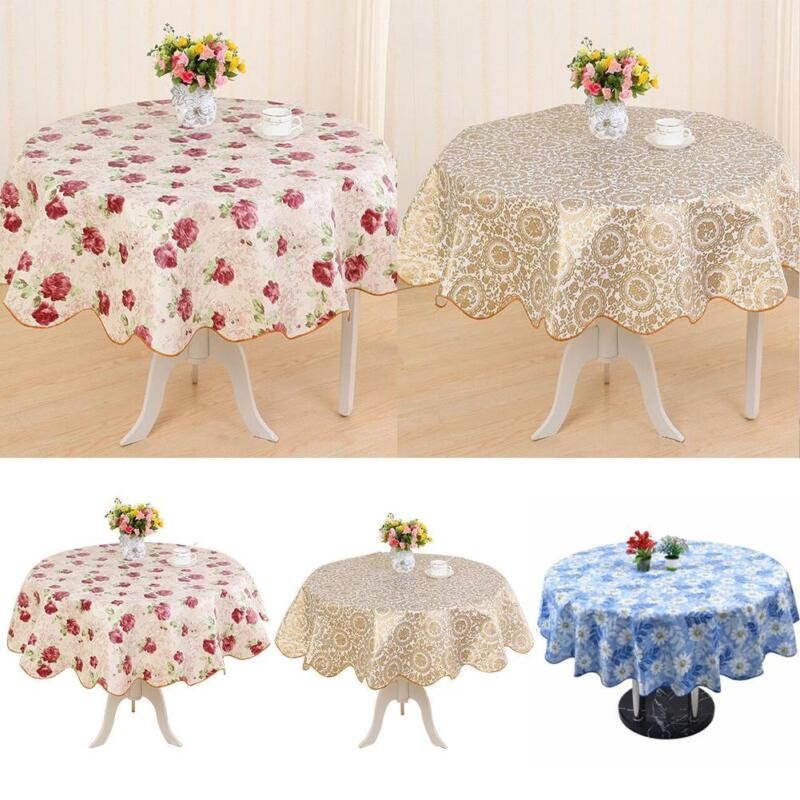 WHITE PINK POLKA DOTS KITCHEN PATIO DINING OILCLOTH VINYL TABLECLOTH 48x48 NEW