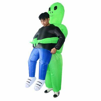 Kinder Erwachsen Aufblasbares Kostüm Halloween Monster Cosplay Party Grün - Kinder Alien Kostüm