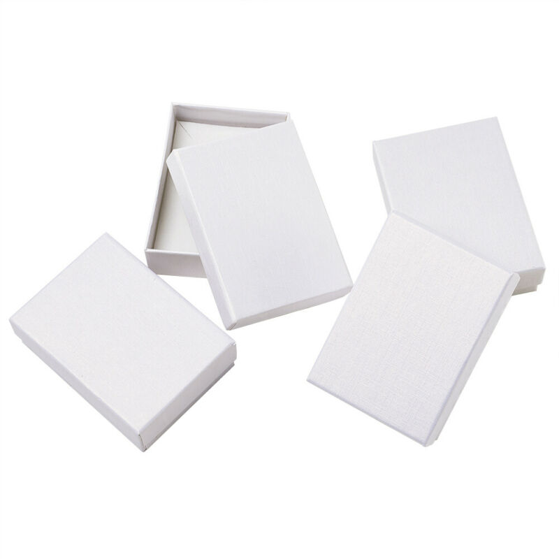 """60 Solid Color Cardboard Jewelry Set Boxes Gift Cases Blanks Favors  3.5""""x2.5"""""""
